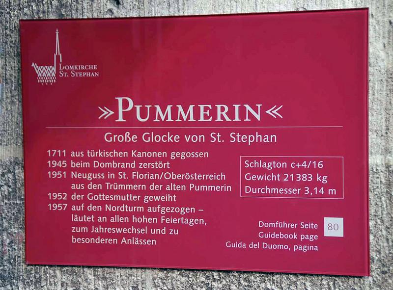 The Pummerin bell.