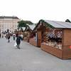 Christmas Festival booths.
