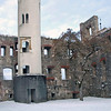 Tower amongst the ruins of the Heidenheim castle.