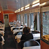 The dining car in the train to Salzburg.