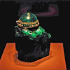 A giant emerald (2,680 karets) was cut into a vessel in 1641.