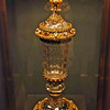 The Burgundian Court Goblet, made of rock crystal, gold, pearls, rubies and diamonds dates from the mid-1400's.
