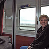 Jean Finkleman on the train to Salzburg.  We had first class tickets in a compartment.