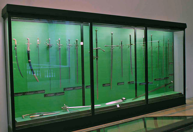 Weapons at the Hofburg Palace Armory Museum.