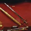 Weapons on display at the Treasury at the Hofburg Palace.