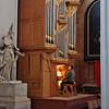 An organist rehearses at St. Augustin church.