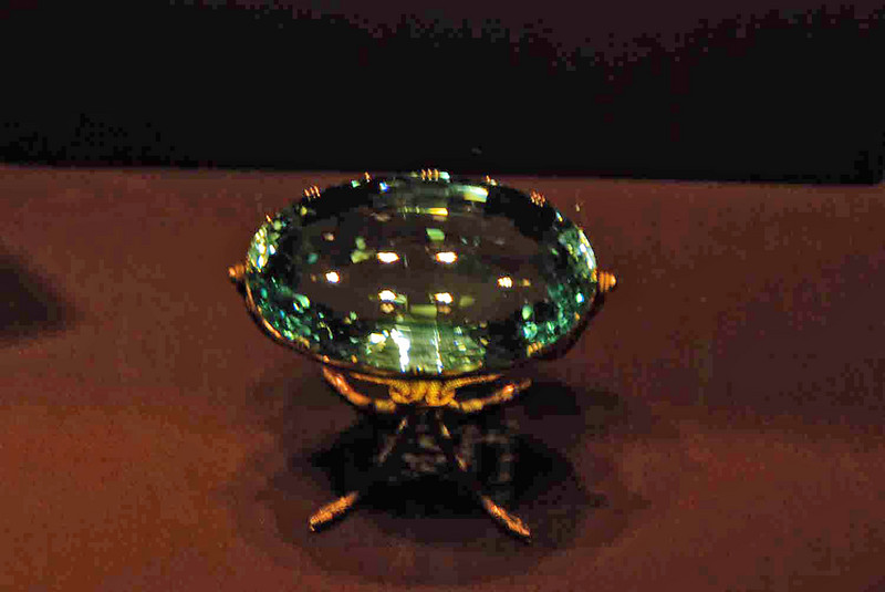 One of the jewels on display at the Treasury.