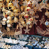 Christmas ornaments on display at the Christmas festival in Maria Theresia Platz, Vienna, Austria.