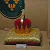 The crown of Joseph II on display in the Treasury.  Made in 1764 of gold-plated silver.