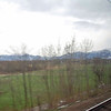View of the Alps from the train.