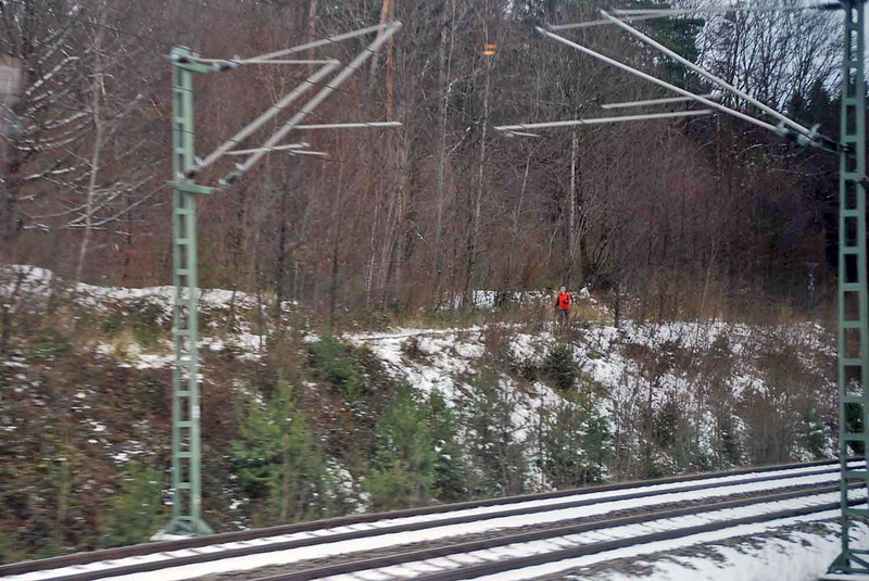 A view of the German countryside from the train.