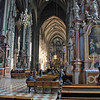 Inside St. Stephen's Cathedral.