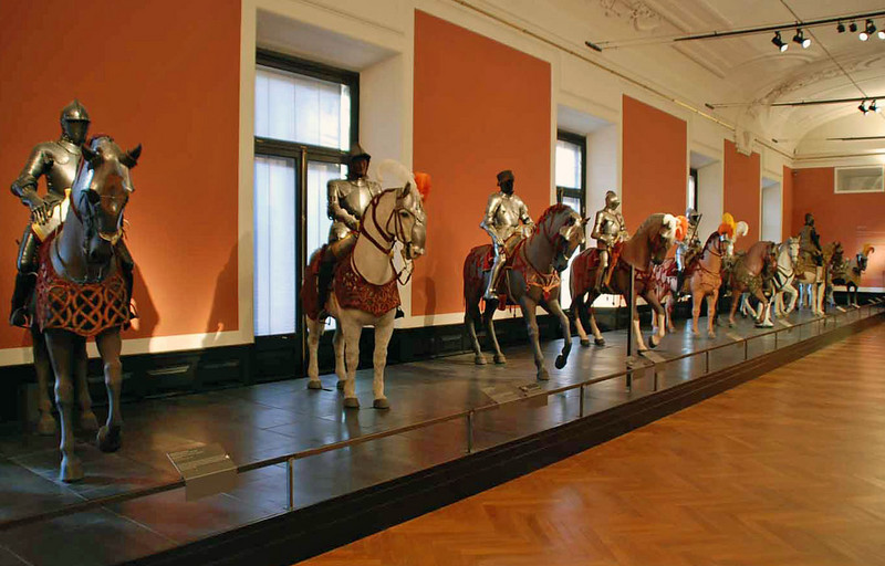 Armor on display at the Hofburg Palace Armory Museum.