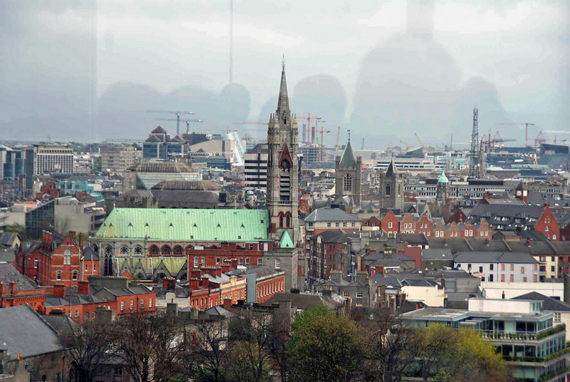 A view of Dublin from the Galaxy Bar at the Guinness Storehouse.