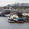 Boats at Albert Edward Pier near Carrickfergus Castle.