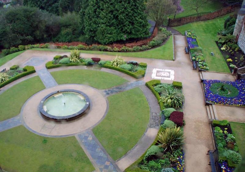 The garden at Belfast Castle.