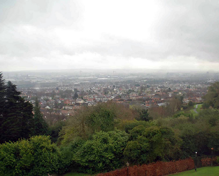 A view of Belfast from the Belfast Castle.