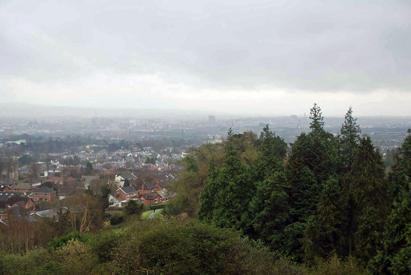 A view of Belfast seen from the Belfast Castle.