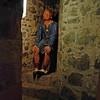 King John on the throne in Carrickfergus Castle.
