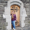 Jean Finkleman in a doorway of Christ Church Cathedral.