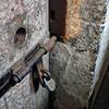 A cell door at Kilmainham Gaol.