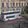 All the buses in Belfast were double-decker buses.