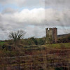 The ruins of an old castle seen from the train to Belfast.