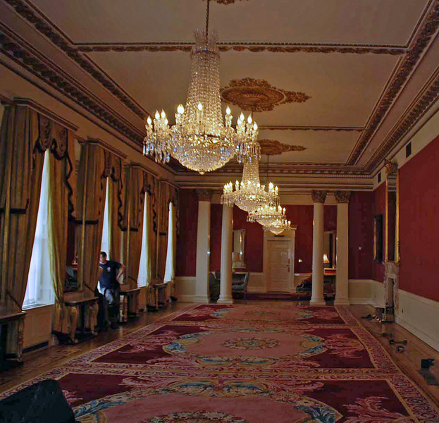 The stateroom at Dublin Castle.