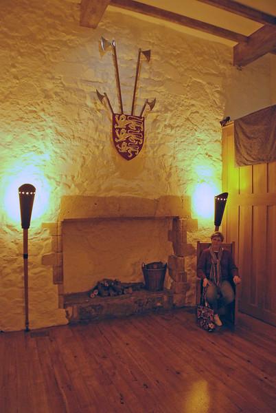Jean in one of the great rooms inside Carrickfergus Castle.