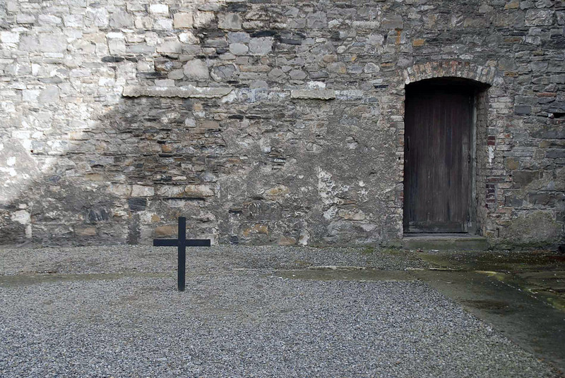 A cross marks the spot where leaders of the 1916 Uprising were shot.
