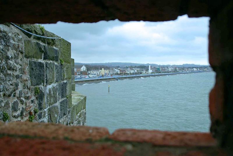 A view of Belfast Lough from Carrickfergus Castle.