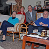 Ray and Jean Finkleman with Benno and Shealagh Moiseiwitsch after dinner at their home in Belfast.