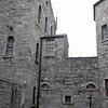 Kilmainham Gaol, Dublin, Ireland.  Prisoners would walk atop the far wall to their public hanging.