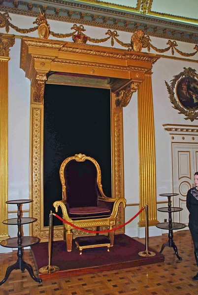 The Throne Room at Dublin Castle.  The throne was used by King George IV in 1821.