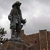 A statue of King William III who landed at Carrickfergus Castle in Ireland in 1690.