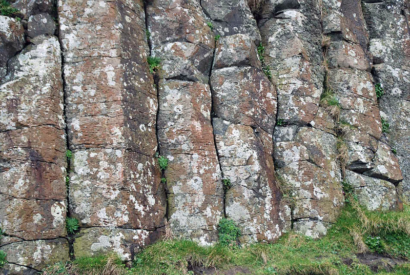 The basalt columns at the Giant's Causeway.