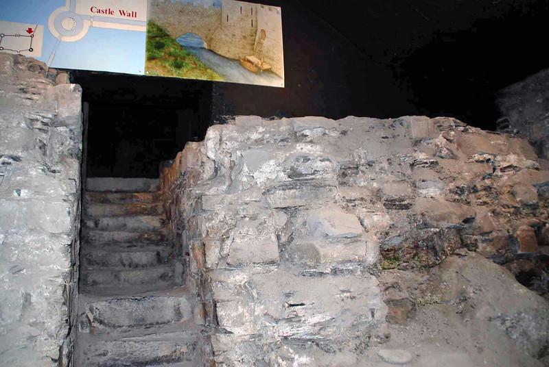 The original castle walls of Dublin Castle.