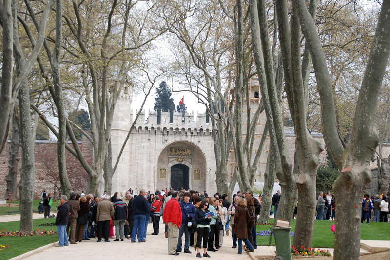 Entrance to the Topkapı Palace, palace of the Sultans
