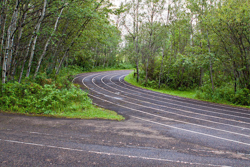 The dreaded running track.