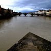 Center of the Arno just north of Ponte Vecchio