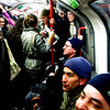 It's a crush on the central line, tube in London at rush hour
