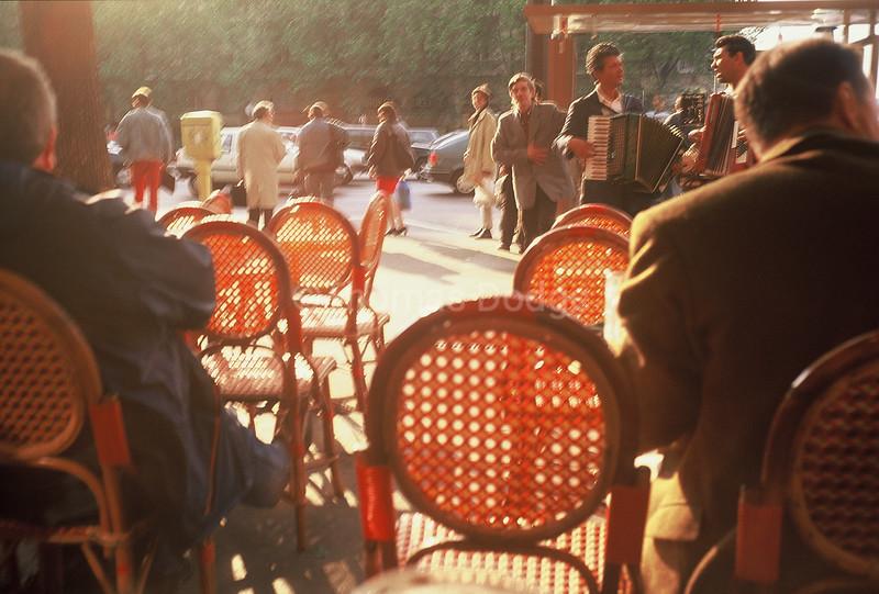 Left Bank cafe', Paris.