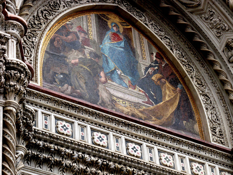 Fresco above the doors to Il Duomo