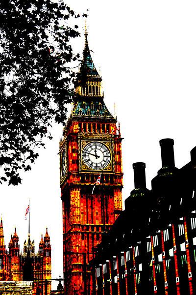 Artsy capture of Big Ben..