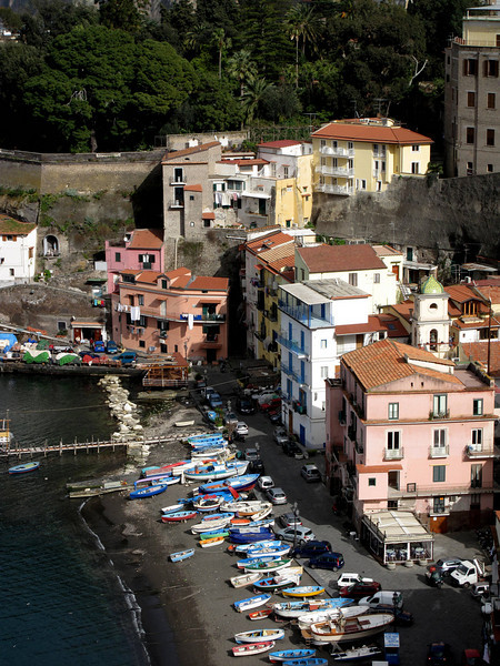Fishing village of Sorrento..The fisherman head out daily to the peacock blue waters for the fresh fish for the city's restaurants and markets.