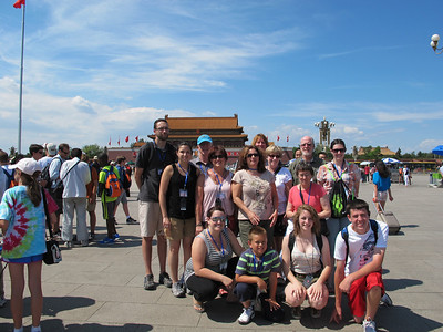 Entering the Forbidden Palace in Beijing, China June 2012.  Trip led by Lutheran West faculty member, Lynn Pangrace.