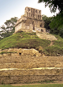 PALENQUE, MEXICO - Another view of the Temple of the Cross.