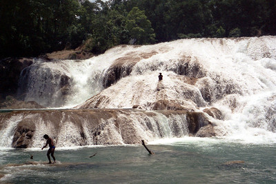 CHIAPAS, MEXICO - The day after our visit to Palenque, we drove into the nearby mountains to the splashing waterfalls of Aqua Azul.