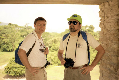 PALENQUE, MEXICO - That's me on the left, along with my Mayan mentor Gary.