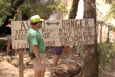 CHIAPAS, MEXICO - This sign - though grammatically challenged - certainly got its point across.
